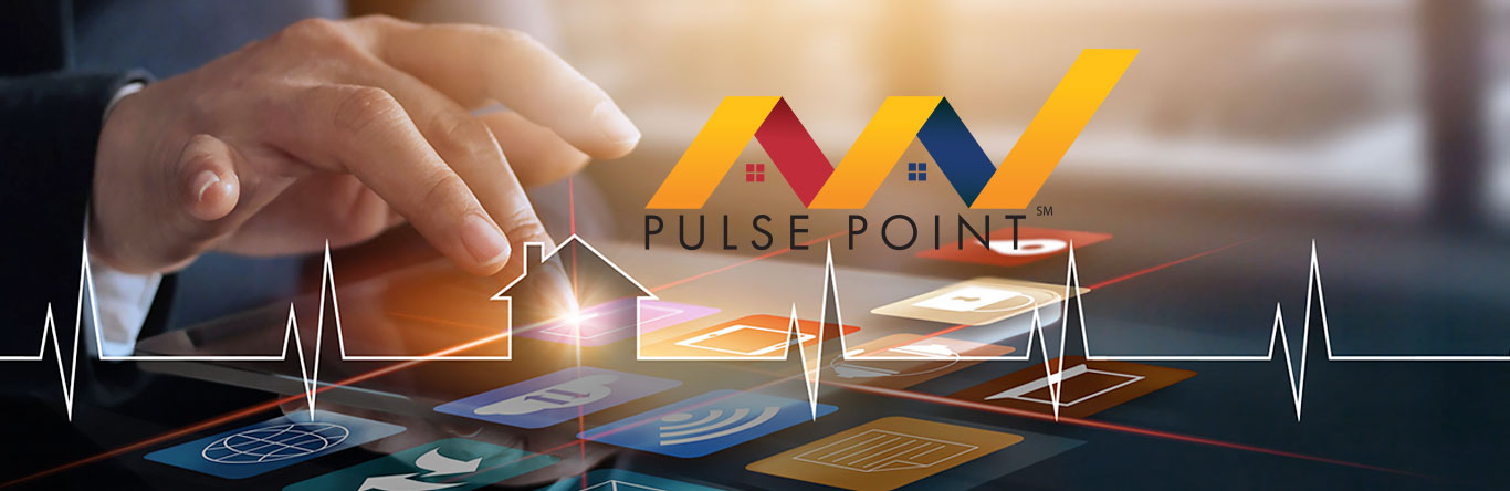 hand opening pulse point app on tablet