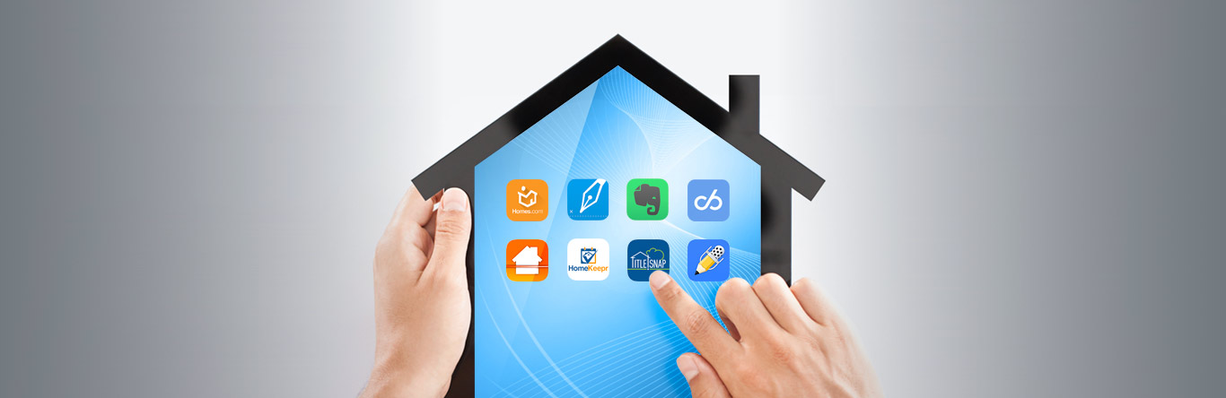 house shaped tablet with apps displaying on screen